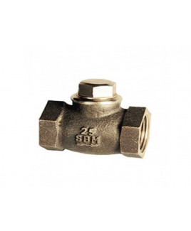 "SBM 1/2""  Bronze Horizontal Lift Check Valve No. 4, IS-318 : 1/2"