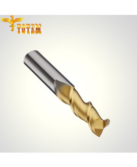 Totem 1 mm Dia Hi-Feed Centre Cutting Solid Carbide Ballnose End Mill-FBK0500200