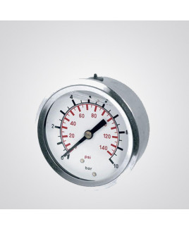 """MASS 2.5""""Bottom monted lower back connection Pressure Gauge"""